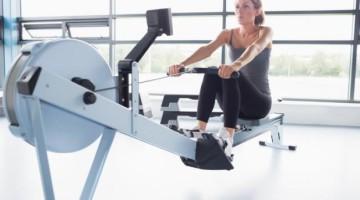 Girl using Rower